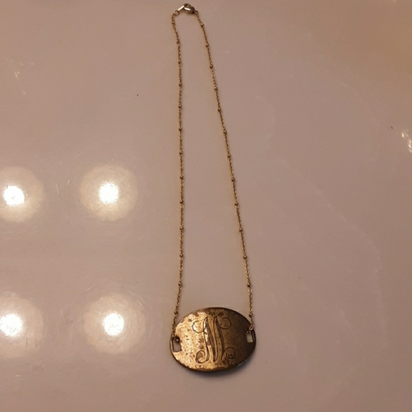 Jewelry - Antiqued initial M necklace- Make an offer